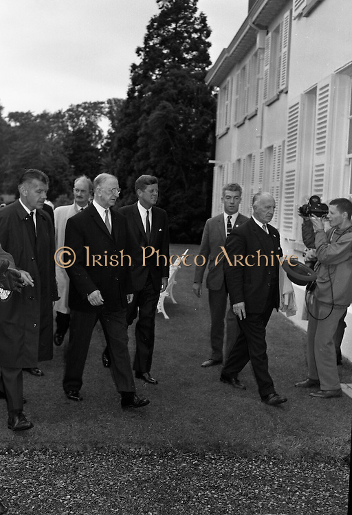President John F. Kennedy attends a Garden Party at Aras an Uachtarain..27.06.1963