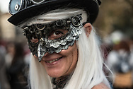 Lucca Comics and Games. Characters along city walls area. Steam Punk
