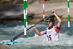 Hannah OWEN of Great Britain during the Canoe Single (WC1) Womens Semi Final race of 2019 ICF Canoe Slalom World Cup 4, on June 30, 2019 in Tacen, Ljubljana, Slovenia. Photo by Sasa Pahic Szabo / Sportida