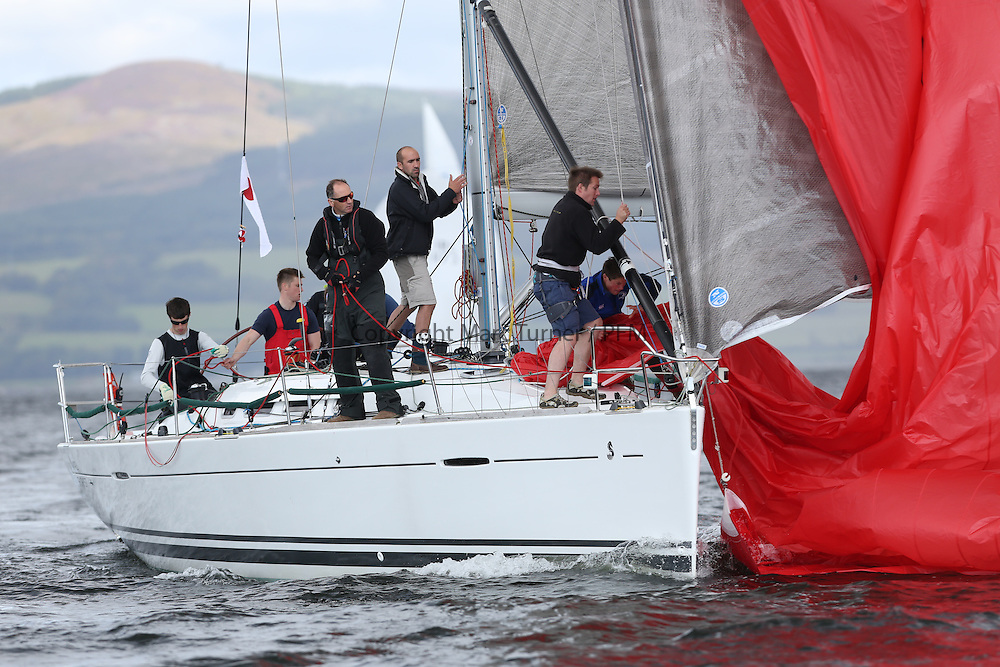 Peelport Clydeport, Largs Regatta Week 2014 Largs Sailing Club based at  Largs Yacht Haven with support from the Scottish Sailing Institute &amp; Cumbrae.<br /> <br /> GBR4041R, First Forty Licks, Jay Colville, East Down YC, First 40