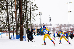 March 10, 2019 - –Stersund, Sweden - 190310 Linn Persson and Anna Magnusson of Sweden during the Women's 10 km Pursuit during the IBU World Championships Biathlon on March 10, 2019 in Östersund..Photo: Petter Arvidson / BILDBYRÃ…N / kod PA / 92254 (Credit Image: © Petter Arvidson/Bildbyran via ZUMA Press)