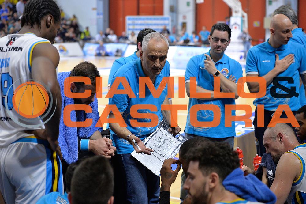 Cremona 04 Maggio 2016<br /> Serie A Lega Beko<br /> Vanoli Cremona Enel Brindisi<br /> Nella Foto Cesare Pancotto Time out Vanoli Cremona<br /> Foto Ciamillo<br /> Provvisorio