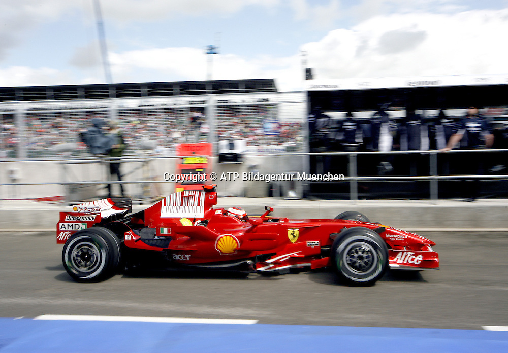 Kimi R&Auml;IKK&Ouml;NEN - Raikkonen - SF, FERRARI  <br />- Silverstone, Formel 1 - 05.07.2008, F1 GP von England in Silverstone - British GP - Foto: &copy; ATP Arthur THILL