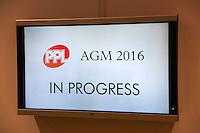 PPL AGM 2016 - King's Place, London. Wednesday, 2rd June 2016.(Photo/John Marshall JME)