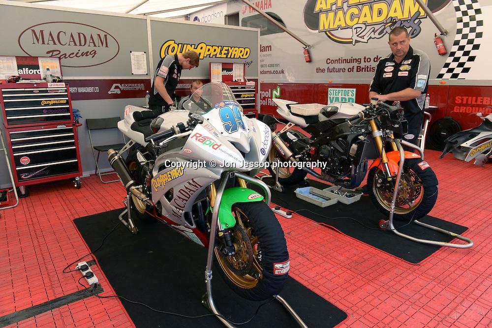 #99 Danny Webb Appleyard/Macadam & Doodson Yamaha Motorpoint British Superport