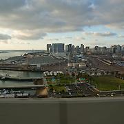 San Diego skyline view from Coronado bridge.