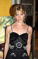 Actress EMILIA FOX at the launch of MAC's High Tea collection with leading British designers held at The Berkeley Hotel, London on 17th January 2005.  MAC has collabroated with The Berkeley's Pret-a-Portea, which adds a creative twist to th classic elements of the English afternoon tea with cakes and pastries inspired by fashion designs.<br />