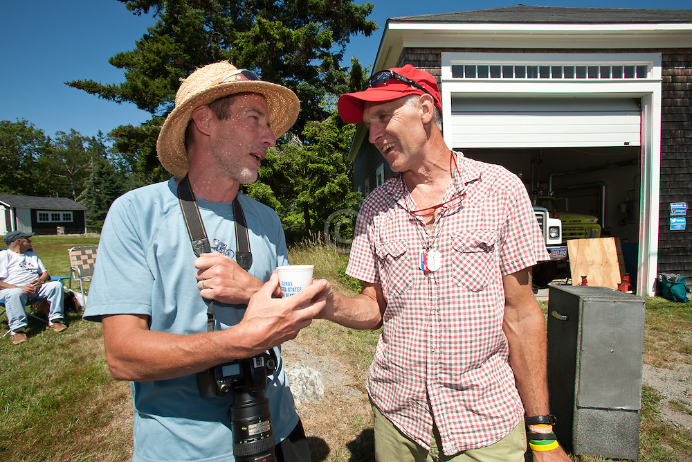 Bob Carroll and Gary Allen, Great Cranberry Island 50K road race