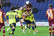 Bradford City midfielder Romain Vincelot (6) scores a goal from open play 2-2 during the EFL Sky Bet League 1 match between Oxford United and Bradford City at the Kassam Stadium, Oxford, England on 12 September 2017. Photo by Dennis Goodwin.