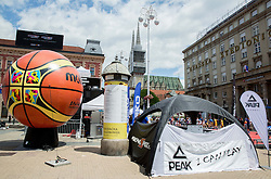 FIBA Basketball World Cup Spain 2014 Trophy Tour, on June 20, 2014 in Ban Jelacic Square, Zagreb, Croatia. Photo By Vid Ponikvar / Sportida
