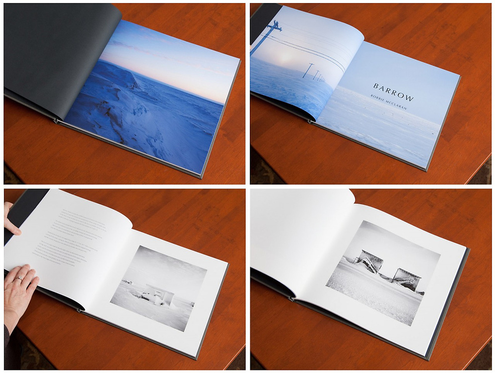 "Elegantly produced, ""Barrow"" is 34 pages, and features twelve black and white and four color images. Printed in my studio each page is archival pigment printing on 100% cotten rag, Moab Entrada Bright, Hardbound in slipcase. Edition of ten with two artist's proofs. Signed and numbered. First copy $450, with price increases as edition is sold. <br />