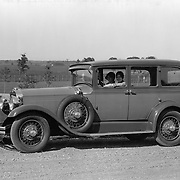 1928 Studebaker President Five Passenger Sedan.  This image was taken at Studebaker's Proving Ground.