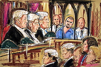 ©PRISCILLA COLEMAN.SUPPLIED BY: PHOTONEWS SERVICE LTD OLD BAILEY.PIC SHOWS: JUSTICE CURTIS, JUSTICE WOOLFE AND JUSTICE HENRIQUEZ FACING MICHELLE DISKIN AND MARGARET GEORGE. BARRY GEORGE TODAY LOST HIS APPEAL AGAINST CONVICTION FOR THE MUDER OF TV PRESENTER JILL DANDO.PIC BY: PRISCILLA COLEMAN ITV