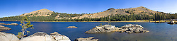 """White Rock Lake 7"" - A panoramic photograph of the Tahoe backcountry lake called White Rock Lake."