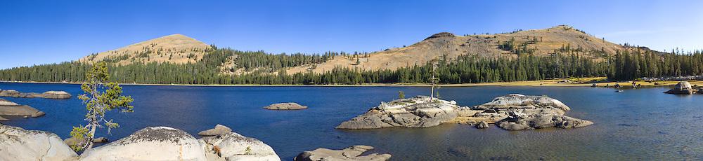 """White Rock Lake 7"" - A panoramic photograph of the Tahoe backcountry lake called White Rock Lake."