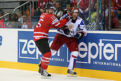 12.05.2011, Orange Arena, Bratislava, SVK, IIHF 2011 World Championship, Canada vs Russia, im Bild ZAJAC AND TYUTIN. EXPA Pictures © 2011, PhotoCredit: EXPA/ EXPA/ Newspix/ .Tadeusz Bacal +++++ ATTENTION - FOR AUSTRIA/(AUT), SLOVENIA/(SLO), SERBIA/(SRB), CROATIA/(CRO), SWISS/(SUI) and SWEDEN/(SWE) CLIENT ONLY +++++