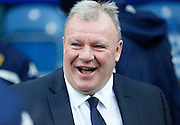 Leeds United manager Steve Evans have a laugh before the Sky Bet Championship match between Queens Park Rangers and Leeds United at the Loftus Road Stadium, London, England on 28 November 2015. Photo by Andy Walter