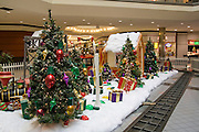 USA, Wisconsin, Milwaukee, Christmas decorations at a shopping mall, December 2006