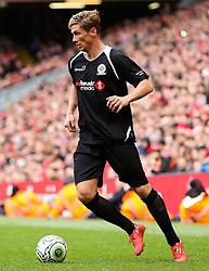 Fernando Torres attacks for the Gerrard XI  - Photo mandatory by-line: Dougie Allward/JMP - Mobile: 07966 386802 - 29/03/2015 - SPORT - Football - Liverpool - Anfield Stadium - Gerrard's Squad v Carragher's Squad - Liverpool FC All stars Game