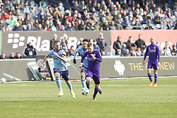 March 17, 2018 - New York, New York, United States - Chris Mueller (17) of Orlando City SC controls ball during regular MLS game against NYC FC at Yankee stadium NYC FC won 2 - 0 (Credit Image: © Lev Radin/Pacific Press via ZUMA Wire)