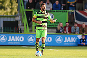Forest Green Rovers Aarran Racine (21), during the Vanarama National League match between Forest Green Rovers and Sutton United at the New Lawn, Forest Green, United Kingdom on 9 August 2016. Photo by Shane Healey.