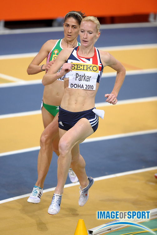 Mar 12, 2010; Doha, QATAR; Barbara Parker (GBR) placed fifth in a women's 3,000m heat in 9:01.52 in the IAAF World Indoor Championships in Athletics at the Aspire Dome.