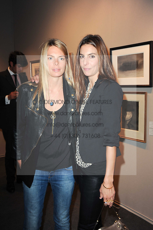 Private View of the Pavilion of Art & Design London 2010 held in Berkeley Square, London on 11th October 2010.<br /> Picture Shows:-Left to right, sisters CAMILLA SIMON and ZARA SIMON.