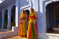 Women outside a house, Osian, Rajasthan, India