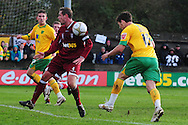 Bristol - Saturday November 7th, 2009: Chris Martin of Norwich City scores against Paulton Rovers during the FA Cup 1st round match at Paulton. (Pic by Alex Broadway/Focus Images)..