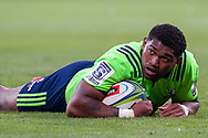 MELBOURNE, VIC - MARCH 01: Waisake Naholo (14) of the Highlanders looks on at The Super Rugby match between Melbourne Rebels and Highlanders on March 01, 2019 at AAMI Park, VIC. (Photo by Speed Media/Icon Sportswire)