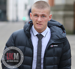 Manchester UK 15.02.2017  Lewis Edwards leaves Minshull Street Crown court after pleading  not guilty to section 20 Assault.<br /> <br /> His Trial is due to start on September the 4 Bail was extended<br /> <br /> The defendant has been charged with assaulting a stranger on Silver Street in Bury 27.12.16.  <br /> <br /> Lewis told me that it was one punch  and that he is a MMA cage fighter