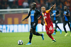 November 26, 2019, Galatasaray, Turkey: Club's Krepin Diatta and Galatasaray's Ariano Ferreira Filho fight for the ball during a game between Turkish club Galatasaray and Belgian soccer team Club Brugge, Tuesday 26 November 2019 in Istanbul, Turkey, fifth match in Group A of the UEFA Champions League. (Credit Image: © Bruno Fahy/Belga via ZUMA Press)