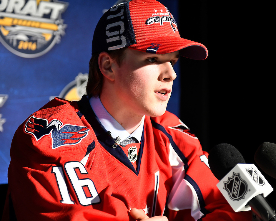 Lucas Johansen of the Kelowa Rockets was selected by the Washington Capitals in the first round of the 2016 NHL Entry Draft in Buffalo, NY on Friday June 24, 2016. Photo by Aaron Bell/CHL Images