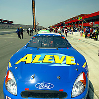 Matt Kenseth and the Bayer Consumer Care Aleve Ford Taurus win for the first time this season at the California Speedway in Fontana, California for the running of the CaliforniaSpeedway.com 300 NASCAR Busch Grand National race.