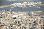 Shell Deer Park Refinery with view across the Houston Ship Channel