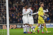 Michy Batshuayi (23) of Chelsea FC celebrating his team's first goal during the The FA Cup match between Hull City and Chelsea at the KCOM Stadium, Kingston upon Hull, England on 25 January 2020.