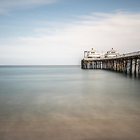 Malibu Pier picture in Malibu California. Malibu is a beach city in Southern California in the United States.