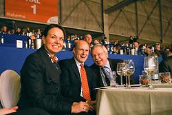 Visser Henk (NED), Visser Tosca (NED), Visser Kees (NED)<br /> Afscheid Gribaldi<br /> KWPN Hengstenkeuring 's Hertogenbosch 2010<br /> © Dirk Caremans