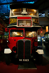 UK ENGLAND LONDON 6SEP10 - A historic Routemaster Bus as operated during the 1940s and 1950s on display at the London Transport Museum in Covent Garden, central London...jre/Photo by Jiri Rezac..© Jiri Rezac 2010
