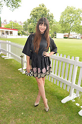 ZARA MARTIN at the Flannels for Heroes Cricket tournament in association with Dockers in aid of the charities Walking With The Wounded, On Course Foundation and Combat Stress held at Burton Court, London on 20th June 2014.