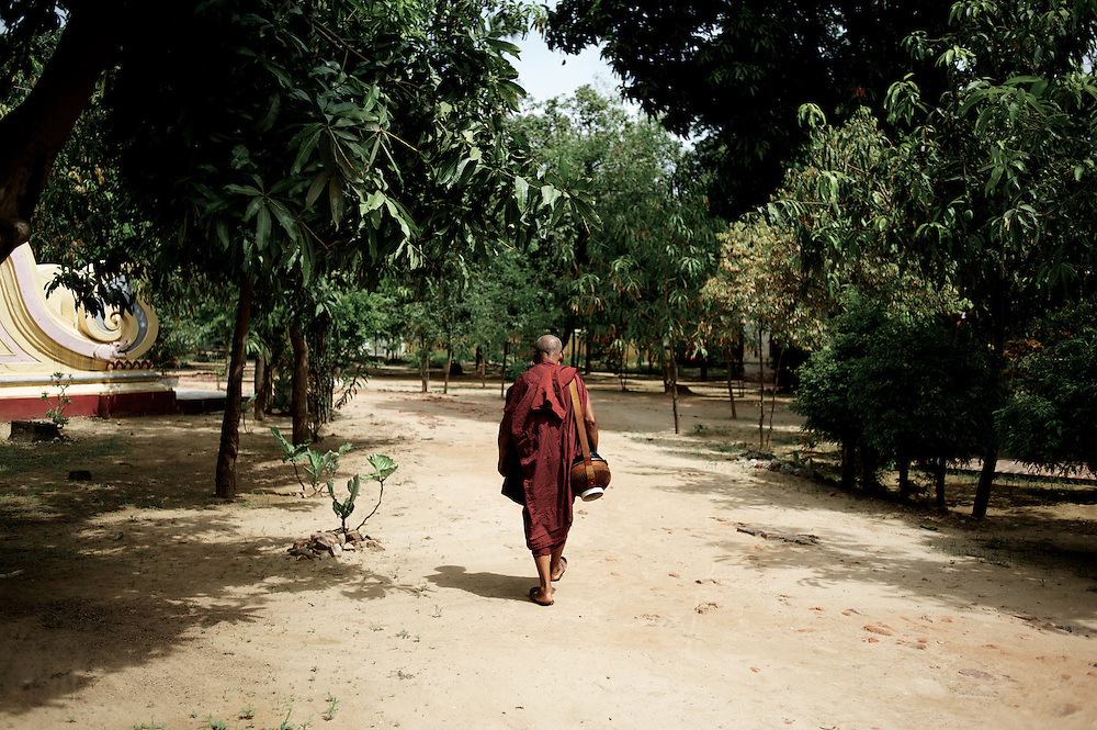 May 14, 2013 - Mandalay, Myanmar: A buddhist monk walks the grounds of a monastery in central Mandalay. (Paulo Nunes dos Santos/Polaris)