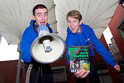 No Fee for Repro: 02/07/2012.?RAP for YAP?.Rapper Wesley Carroll, aged 18 years from Dublin and Young film maker Daniel Delaney, aged 16 years from Cavan who have both availed of the YAP (Youth Advocates Programme) Ireland intensive support service are pictured launching the YAP Ireland Annual Report. Pic Andres Poveda..The YAP Ireland Annual Report showed that 475 young people and families received an intensive support service in 2011 and some of outcomes data showed that 82% showed an improvement in risky behaviour and 79% in school attendance.