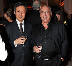 Left to right, JOSEPH WAN Chief executive, Harvey Nichols and SIR PHILIP GREEN at the Harper's Bazaar Women of the Year Awards 2011 held at Claridge's, Brook Street, London on 7th November 2011.