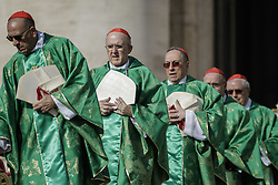 October 3, 2018 - Vatican City, Vatican - Cardinals attend a mass for the opening of the Synod of Bishops, focusing on Young People, the Faith and Vocational Discernment in St. Peter's Square in Vatican City, Vatican on October 03, 2018. (Credit Image: © Giuseppe Ciccia/Pacific Press via ZUMA Wire)