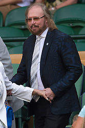 © Licensed to London News Pictures. 07/07/2016. BARRY GIBB watches tennis from the Royal Box on the centre court on the eleventh day of the WIMBLEDON Lawn Tennis Championships. London, UK. Photo credit: Ray Tang/LNP