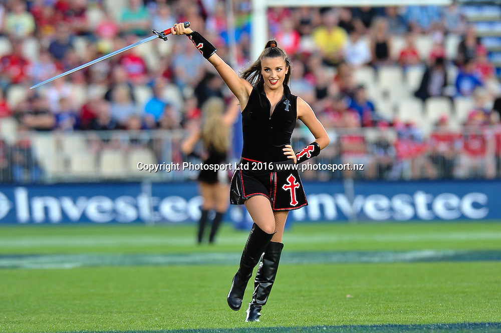 A maiden during the Super Rugby Match, Crusaders V Kings, AMI Stadium, Christchurch, New Zealand. 19th March 2016. Copyright Photo: John Davidson / www.photosport.nz