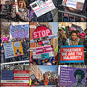 Montage from the Second Women's Day March.<br />