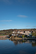 Henley, Oxfordshire. England General Views Henley Town  looking across, the  River Thames from the Oxfordshire bank towards Leander Club on the Berkshire side  <br /> <br /> Thursday  01/12/2016<br /> © Peter SPURRIER<br /> LEICA CAMERA AG  LEICA Q (Typ 116)  f1.7  1/6400sec  35mm  6.6MB