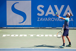 Andrea Pellegrino (ITA) play against Frederik Nielsen (DEN) at ATP Challenger Zavarovalnica Sava Slovenia Open 2018, on August 5, 2018 in Sports centre, Portoroz/Portorose, Slovenia. Photo by Urban Urbanc / Sportida