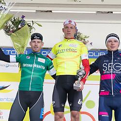 20-10-2019: Wielrennen: OlympiaTour: Tiel<br />Eindpodium winnaar Sander De Pestel, Jason van Dalen, Stan van Tricht